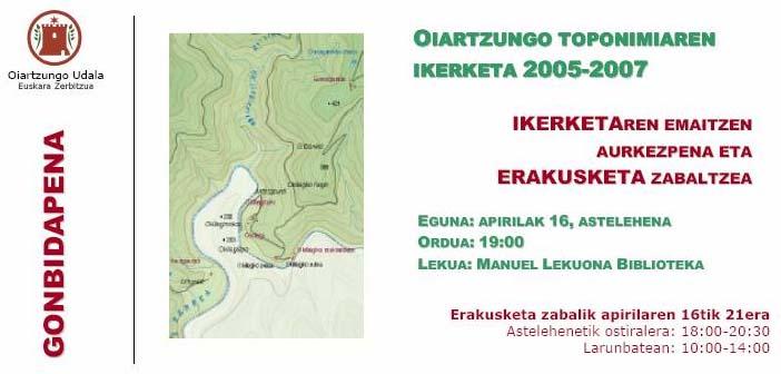 Oiartzungo Toponimia
