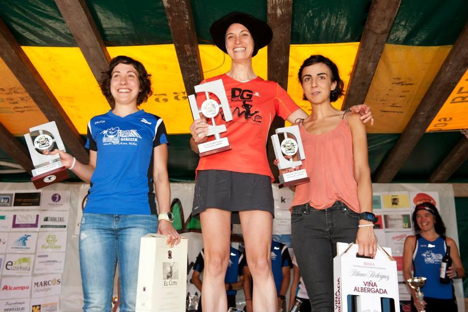 Intxixu Trail mendi lasterketa - emakumezkoen-podiuma