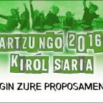Oiartzungo  2016ko  Kirol  Saria