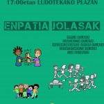 Otsailak  27,  larunbata,  Kontzejupe  plazan:  ENPATIA  JOLASAK
