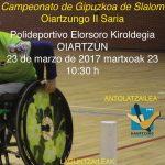 Ostegun  honetan,  Elorsoro  Kiroldegian:  Gipuzkoako  II.  slalom  saria!