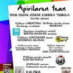 APIRILAK  1:  KORRIKAren  FESTA;  EGUN  OSOKO  EGITARAUA!!