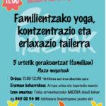 Familientzako  yoga,  kontzentrazio  eta  erlaxio  tailerra