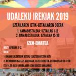 OIARTZUNGO UDALEKU IREKIAK 2019 / COLONIAS ABIERTAS DE OIARTZUN 2019