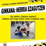 """URTARRILAK  18,  16:30EAN  """"HERRIA  EZAGUTZEN""""  GINKANA!"""